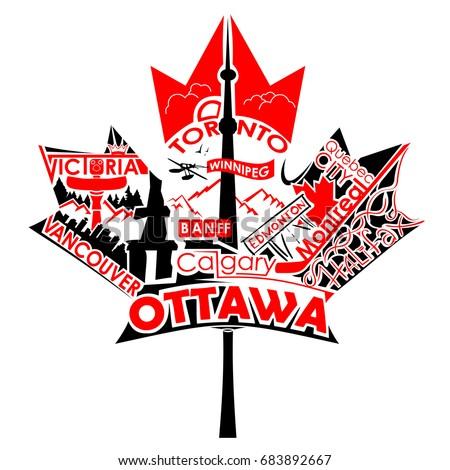 Canadian Leaf Text Symbol   Theleaf.co