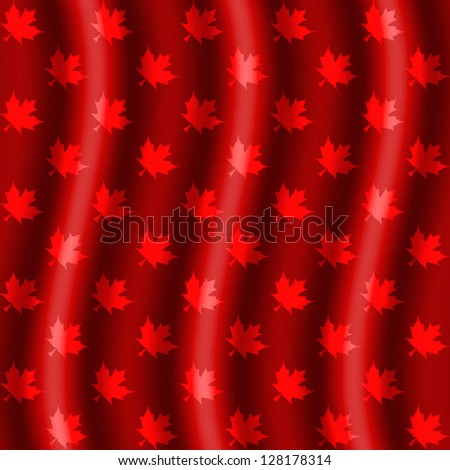 Maple Leaf Pattern Rad background curtains style - stock vector