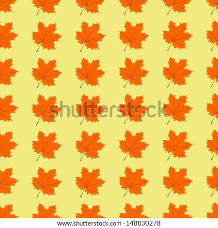 Maple leaves seamless pattern