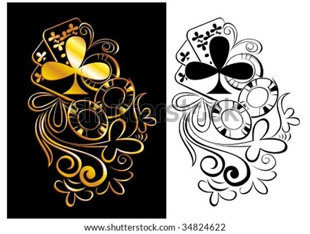 Maps, casino, game, passion - stock vector
