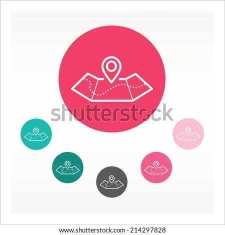 Maps icon - stock vector