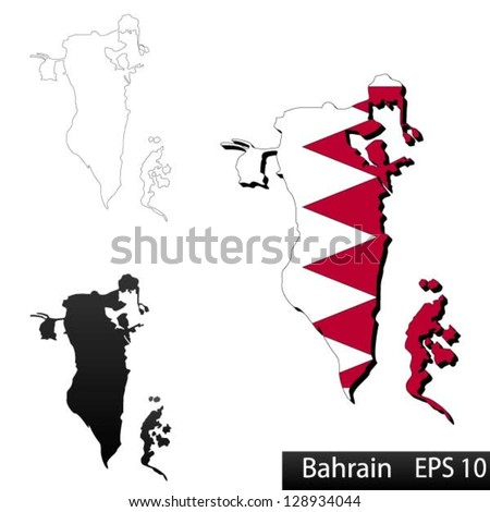 Bahrain Map Vector Maps of Bahrain 3 Dimensional