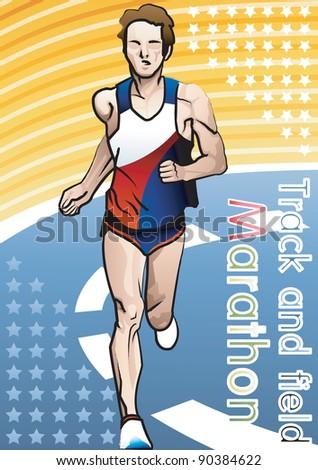 Marathon - stock vector