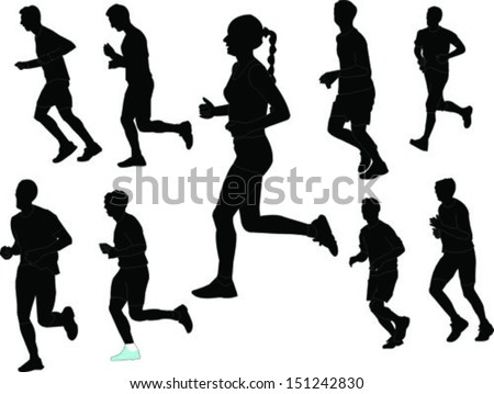 marathon collection - vector - stock vector