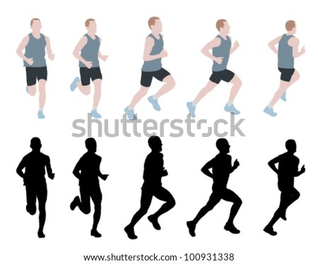 marathon runner - stock vector