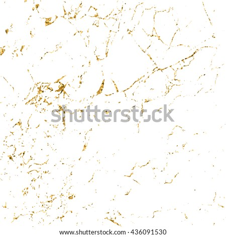 Marble gold grunge texture. Patina scratch golden elements. Sketch surface to create distressed effect. Overlay distress grain graphic design. Stylish modern background decoration. Vector illustration - stock vector