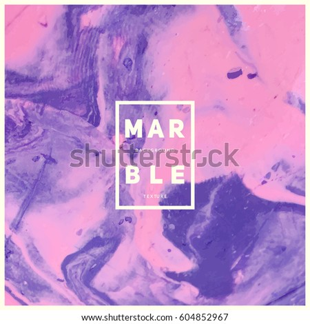 Marble texture background. VIolet and pink colors mixed. Modern artistic backdrop. Eps10 vector.