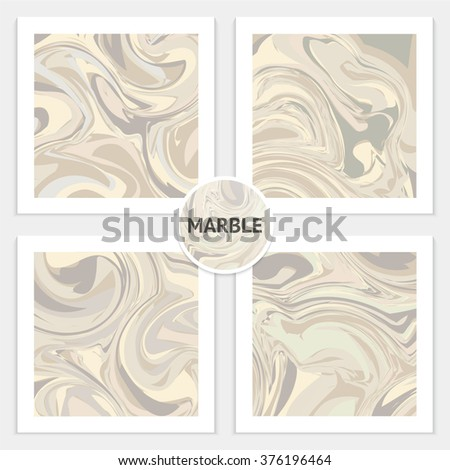 Marble vector background. Different background for any design. Marbling illustration, abstract background, aqua print.  Set of textures - stock vector