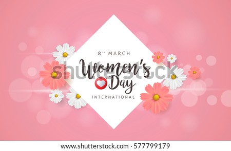 March 8 greeting card background template stok vektr 577799179 march 8 greeting card background template for international womens day vector illustration m4hsunfo