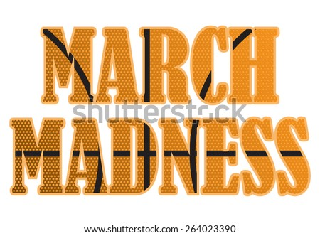 March Madness - stock vector