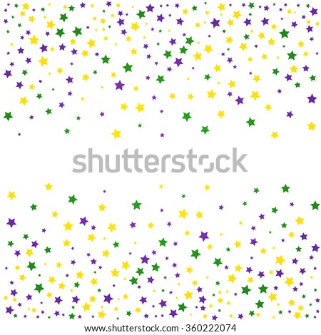Mardi Gras background with stars. Vector illustration.