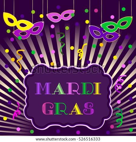 Mardi gras celebration freehand cartoon fancy stock vector 526516333 mardi gras celebration freehand cartoon fancy letters masquerade street parade traditional symbols greeting m4hsunfo Images