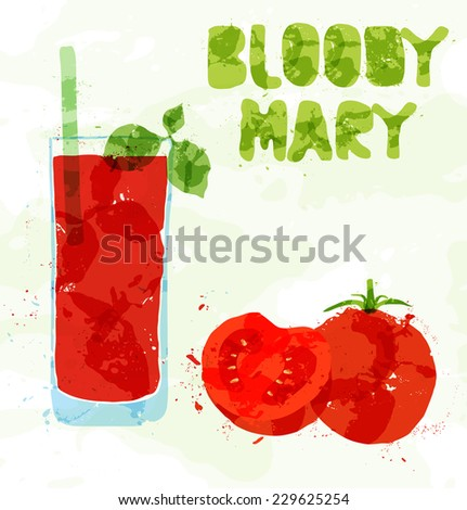 Margarita cocktail with a slice of lime - stock vector