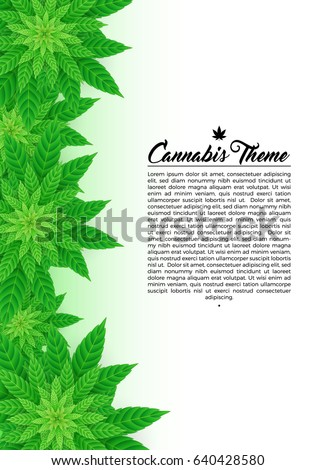 marijuana cannabis 420 flyer poster template layout vector art design illustration