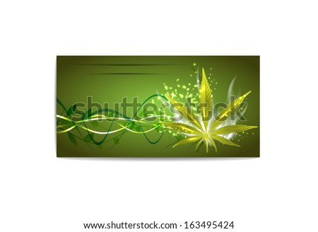 Marijuana card for your design, vector illustration, eps10, 5 layers. Glad to see you in my portfolio and have a nice day=) - stock vector