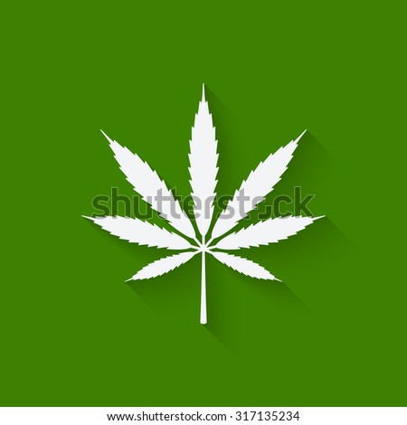 marijuana leaf on green background. vector illustration - eps 10