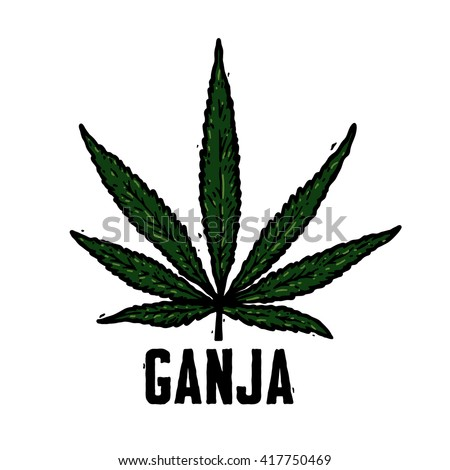 Marijuana Symbol Ganja Logotype Stock Vector Royalty Free