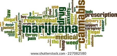 Marijuana word cloud concept. Vector illustration - stock vector