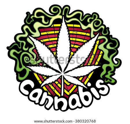 Marijuna Cannabis design stamp vector illustration - stock vector
