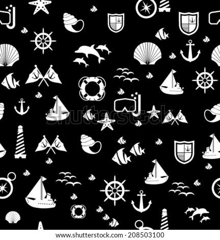 marine background  - stock vector