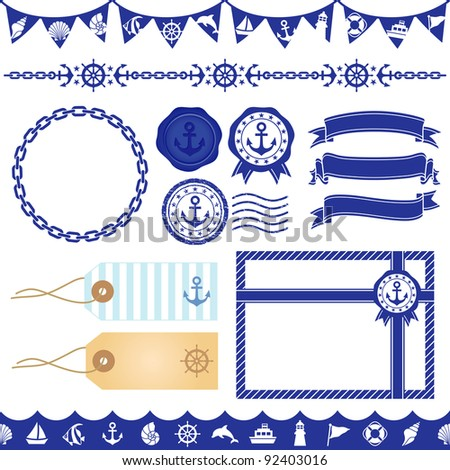 marine decoration - stock vector