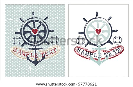 Marine Illustrations set - stock vector