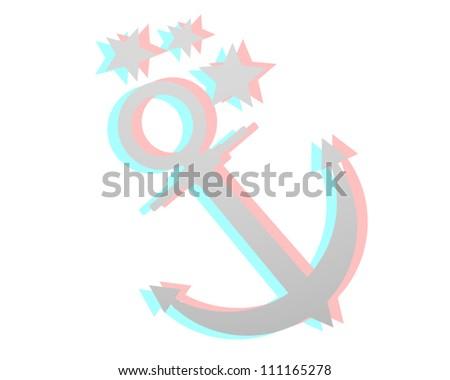 Marine symbol - stock vector