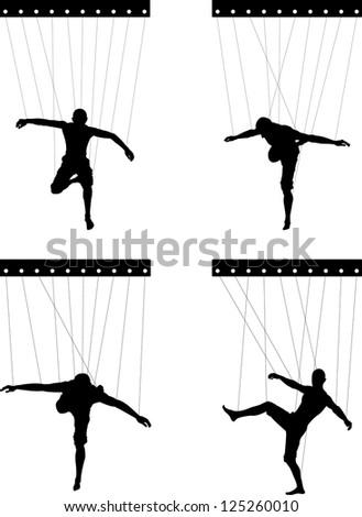 marionettes. fifth variant. vector illustration - stock vector