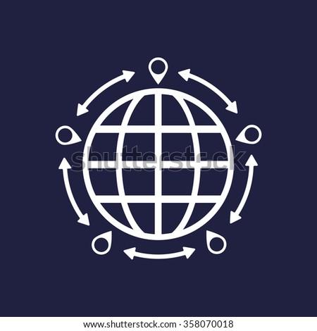 Mark icon, pointer icon, vector illustration. Modern design. Flat design style - stock vector