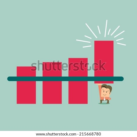Mark Up data cheat business activity. Flat vector illustration - stock vector