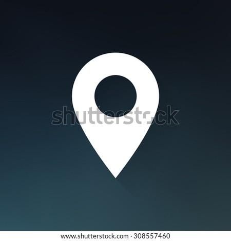 Marker icon , Map pointer icon - Vector - stock vector