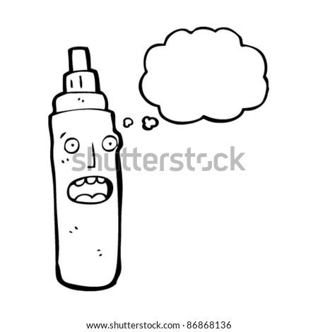 marker pen cartoon character - stock vector