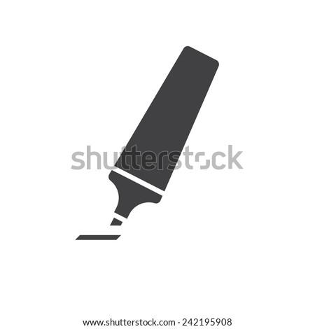 Marker pen, modern flat icon - stock vector