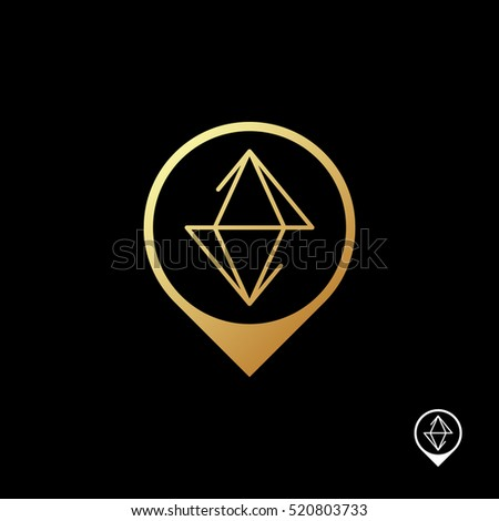 Marker Ruby Logo Template Abstract Diamond Stock Vector HD (Royalty ...