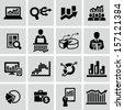 Market analysis, diagrams icons - stock vector