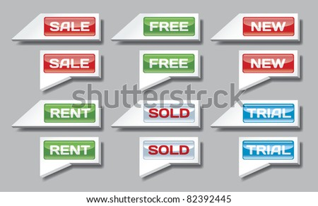 Market and real estate pointers - stock vector