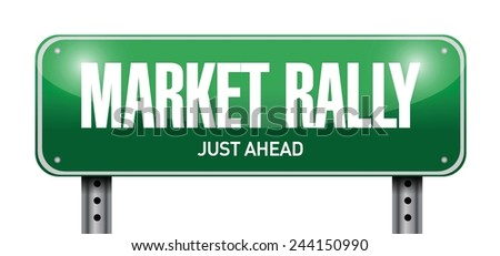 market rally street sign illustration design over a white background - stock vector