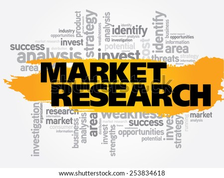 Market research business concept word cloud - stock vector