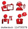 market service icons set, isolated vector symbols - stock photo