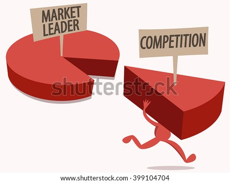 Market Share Competition - stock vector