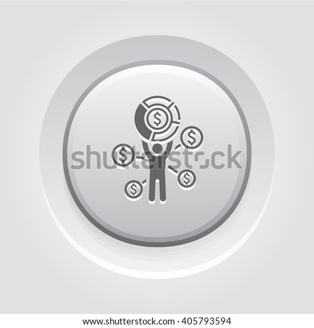 Market Share Icon. Business Concept - stock vector
