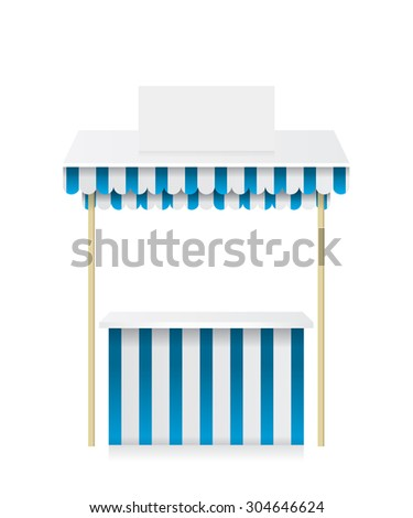 Market stall shop illustration - stock vector