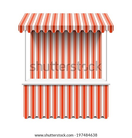 Market stall. Vector. - stock vector