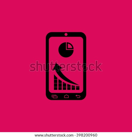 Market Status On mobile Phone Icon. Eps-10. - stock vector