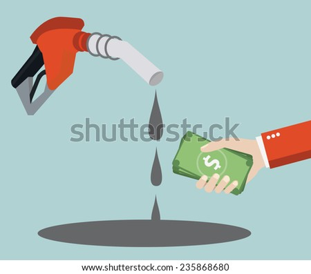 Market trading of oil resources. Vectors illustration - stock vector