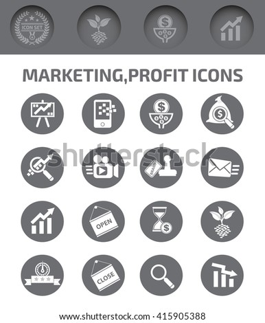 Marketing and profit icons,vector