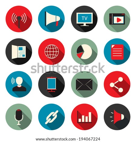 Marketing color icons