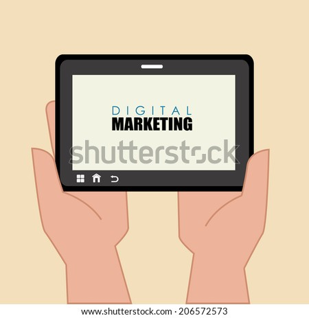 Marketing design over beige background, vector illustration