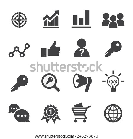 marketing icon - stock vector