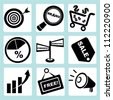 marketing icon set - stock photo